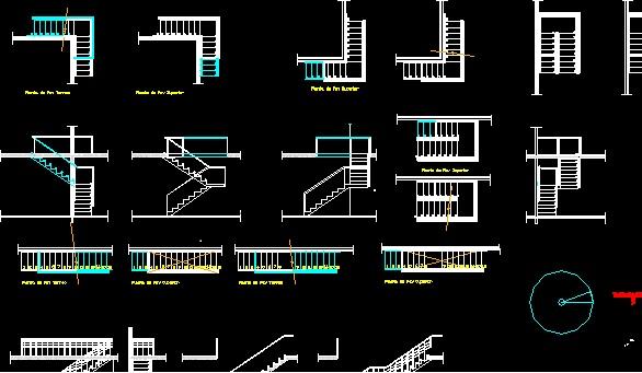 Steel stair drawing